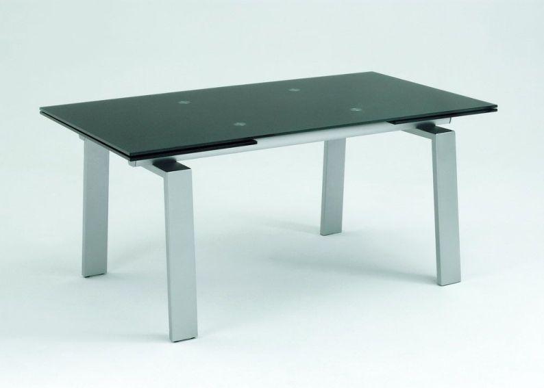 esstisch 1133 1785 colorglas schwarz satiniert m belpunkt m bel g. Black Bedroom Furniture Sets. Home Design Ideas