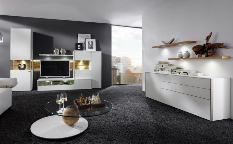 wohnm bel venjakob sentino sentino wohnwand se06 2424 lack weiss m belpunkt m bel g nstig onli. Black Bedroom Furniture Sets. Home Design Ideas